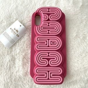 COACH Pink iPhone X or XS Case